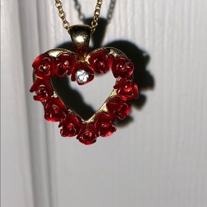 Red roses necklace! 2 for $10 necklaces!